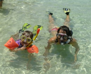 Snorkeling with my then 3 year old
