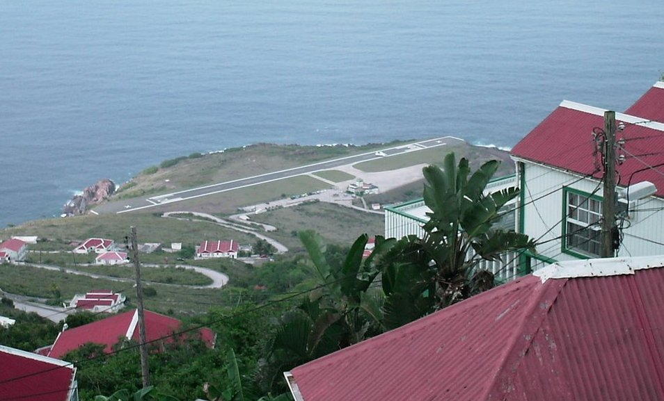 Saba's airport has the shortest international runway in the world